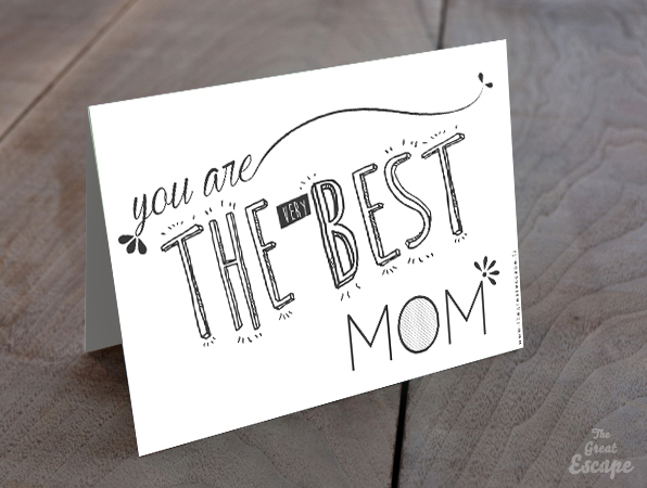 Carte Fête des mères : you are THE (VERY) BEST MOM