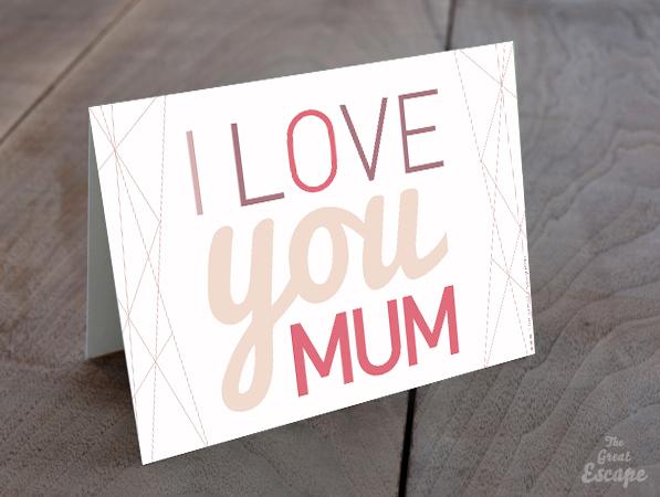 Carte Fête des mères : I LOVE YOU MUM