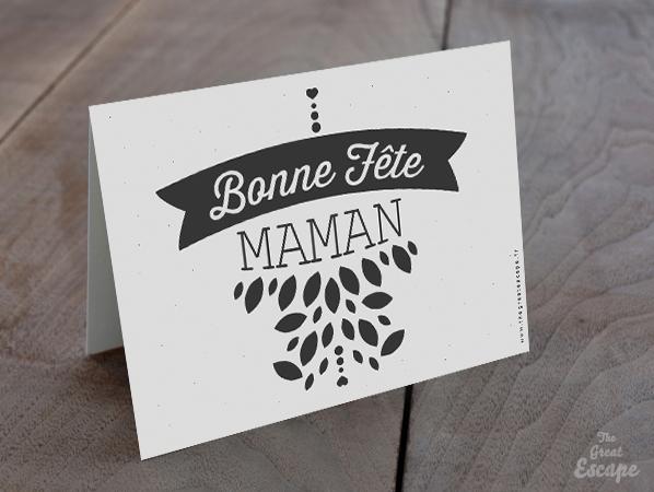 Carte Fête des mères : Bonne Fête MAMAN