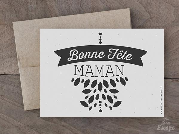 Carte Fête des mères : Bonne Fête MAMAN 2