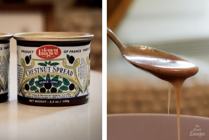 Crème de marrons pour Fondant poire et crème de marrons