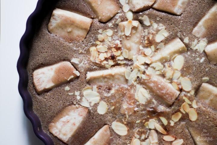 Fondant poire et crème de marrons
